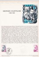 Document 1er Jour Georges Courteline - Lettres & Documents
