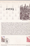 Document 1er Jour Auray - Lettres & Documents