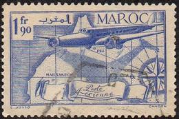 Maroc Obl. N° PA  45 - Poste Aérienne 1fr90 Bleu - Luftpost