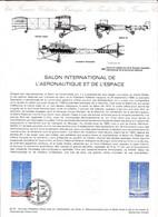 Document 1er Jour Salon International De L'aéronautique Et De L'espace Aviation Avion Fusée - Lettres & Documents