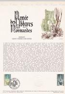 Document 1er Jour Année Des Abbayes Normandes Bernay Saint-Pierre-sur-Dives - Lettres & Documents
