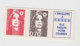 MARIANNE BICENTENAIRE. ADHESIF. SANS VAL. + 0,70 + VIGNETTE 2874c - 1989-96 Marianne Du Bicentenaire