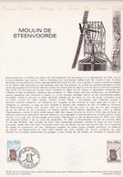Document 1er Jour Moulin De Steenvoorde - Lettres & Documents