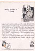 Document 1er Jour Léon Jouhaux - Lettres & Documents