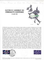Document 1er Jour élection De L'assemblée Des Communautés Européennes - Lettres & Documents