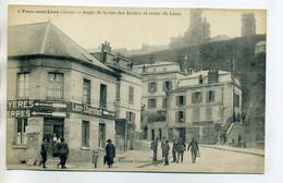 02 VAUX Sous LAON  Maisons Angle Rue Des Ecoles Et Route Laon   Panneaux En Allemand 1914 --/D14-2017 - Autres Communes