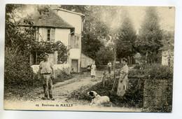 10 MAILLY Le CAMP Environs Belle Anim Villageois Paysans Et Chien  écrite     --/D14-2017 - Mailly-le-Camp