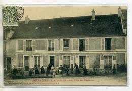 02 CHARTEVES Rep Filliette édit - Villa Des Parisiens L'Ancienne Ferme Anim Devant Maison 1907 Timb  /D11-2018 - Autres Communes