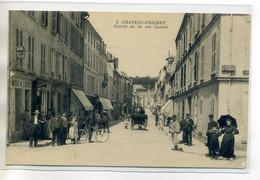 02 CHATEAU THIERRY 3 J Bourgogne édit -  Bureau De L'Octroi Entrée Rue Carnot Jolie Anim 1916 écrite    /D11-2018 - Chateau Thierry