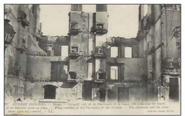 Cpa 62 Arras , Ww1 , Ce Qui Reste De La Pharmacie , Voyagée 1915 - Arras