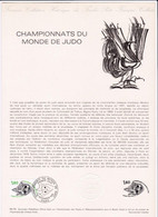 Document 1er Jour Championnats Du Monde De Judo - Lettres & Documents