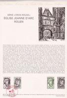 Document 1er Jour Série Croix-Rouge église Jeanne D'Arc Rouen - Lettres & Documents