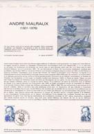 Document 1er Jour André Malraux - Lettres & Documents