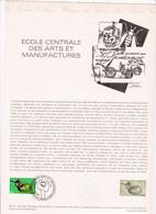 Document 1er Jour école Centrale Des Arts Et Manufactures - Lettres & Documents