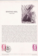 Document 1er Jour Simone Weil - Lettres & Documents