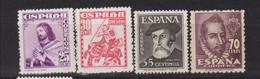Año 1948 Edifil 1033 A 1036 Serie Personjes - 1931-50 Neufs