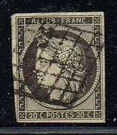A2D-N°3 Gris Ou Gris Noir ?  Voir Scan De Comparaison. Léger Def Angle Nord Ouest - 1849-1850 Ceres