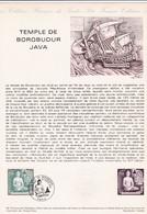 Document 1er Jour Temple De Borobudur Java Bateau - Lettres & Documents