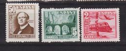 Año 1948 Edifil 1037 A 1039 Serie Centenario Del Ferrocarril - 1931-50 Neufs