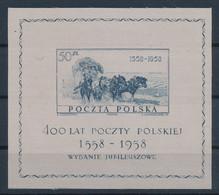 POLEN / POLAND / POLSKA  -  1958  ,   400 Jahre Polnische Post   -  Michel  Block 22  MNH / ** - Unused Stamps