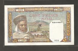 Algérie, 100 Francs, 1941-1945 Issue - Algeria