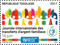 Togo 2020 International Day Of Family Remittances. COVID-19 Pandemic OFFICIAL ISSUE 1V - Enfermedades