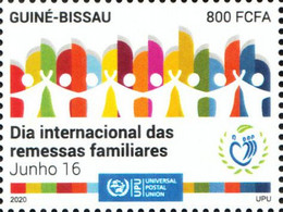 Guinea-Bissau 2020 International Day Of Family Remittances. COVID-19 Pandemic OFFICIAL ISSUE 1V - Enfermedades