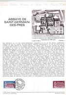 Document 1er Jour Abbaye De Saint-Germain-des-Prés - Lettres & Documents