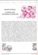 Document 1er Jour Martinique Floralies Internationales - Lettres & Documents