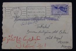 ALGÉRIE - Enveloppe De Alger Pour Sousse En 1938  - L 90330 - Lettres & Documents