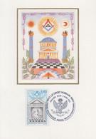 Carte Maximum   1er Jour    FRANCE    Ordre  Maçonnique  :  LE  DROIT  HUMAIN   1993 - 1990-1999