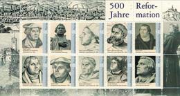 [A5] Reformation Block Liechtenstein Luther Lucas Cranach Hans Brosamer René Boyvin Friedrich Fleischmann Thumann - Christianity