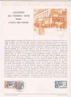 Document Journée Du Timbre 1979 Paris L'hôtel Des Postes - Lettres & Documents