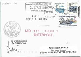 YT 1706 Péniche - YT 1935 - Chariot Cantine - YT 2454 Voilier - Escale Du MD à Quebec - 02/07/1999 - Cartas