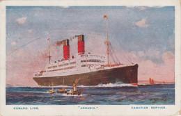 GB Postcard Shipping Cunard Andania - Unclassified