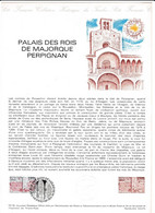 Document 1er Jour Palais Des Rois De Majorque Perpignan - Lettres & Documents