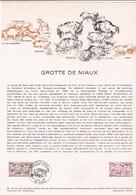 Document 1er Jour Grotte De Niaux - Lettres & Documents