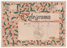 CTT Servico Telegrafico BF4 Portugal Telegrama De Boas Festas Christmas Greetings Telegram - Covers & Documents