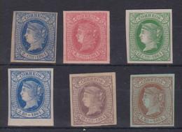 Año 1864 Edifil 63 A 68 Isabel II Serie Completa , Membrete De A.Roig En El Dorso (12c 1r,y 2r) - Neufs