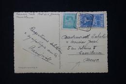 PORTUGAL - Affranchissement De Lisbonne Sur Carte Postale En 1938 Pour Le Maroc - L 90339 - Covers & Documents