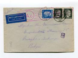 1943 Censuur Enveloppe Van Berlin Naar Burcht - Stempel 13 + A.C. - Van Soldaat Uit Berlin-Marienfelde - Zie Zegels !!! - Covers & Documents