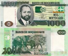 MOZAMBIQUE 1000 Meticais, 2011, P153, UNC, FA Prefix (Elephant), UNC - Mozambique