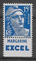 Marianne De Gandon N° 886a Type 1 Avec Bande Publicitaire ** TTBE - Cote Y&T 2020 De 6 € - Nuevos