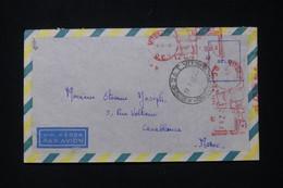BRÉSIL - Affranchissement Mécanique De Vitória Sur Enveloppe En 1959  Pour Le Maroc - L 90340 - Cartas