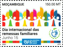 Mozambique 2020 International Day Of Family Remittances. COVID-19 Pandemic OFFICIAL ISSUE 1V - Enfermedades