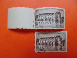 N° 611b** Chenonceau  Cote: 135€. Signé - Variétés: 1941-44 Neufs