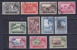 MALAYA JOHORE 1960, SG# 155-165, CV £80, Architecture, Animals, Used - Johore