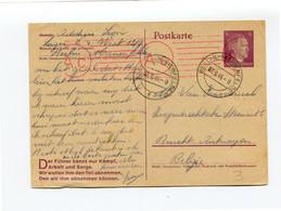 1944 Postkarte 6pf Berlin Marienfelde Naar Burcht - Stempel AC - Censuur - Met Vlaamse Tekst En Tekst Onderaan Kampf ... - Stamped Stationery