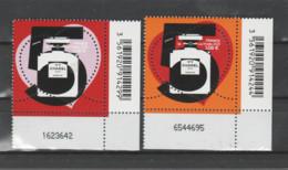 FRANCE / 2021 / Y&T N° 5464/5465 ? ** : Chanel N°5 (2 TP Gommés De Feuille) X 1 Paire CdF Inf D Code-barres & N° Feuille - Neufs