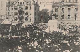 57 - METZ - RUE PLACE DEROULEDE - PLACE R MONDON - INAUGURATION DU MONUMENT EMPEREUR FREDERIC - 16 MAI 1909 - Metz